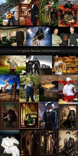 42 мужских шаблона для фотомонтажа 0_c9e22_c1136cd9_L